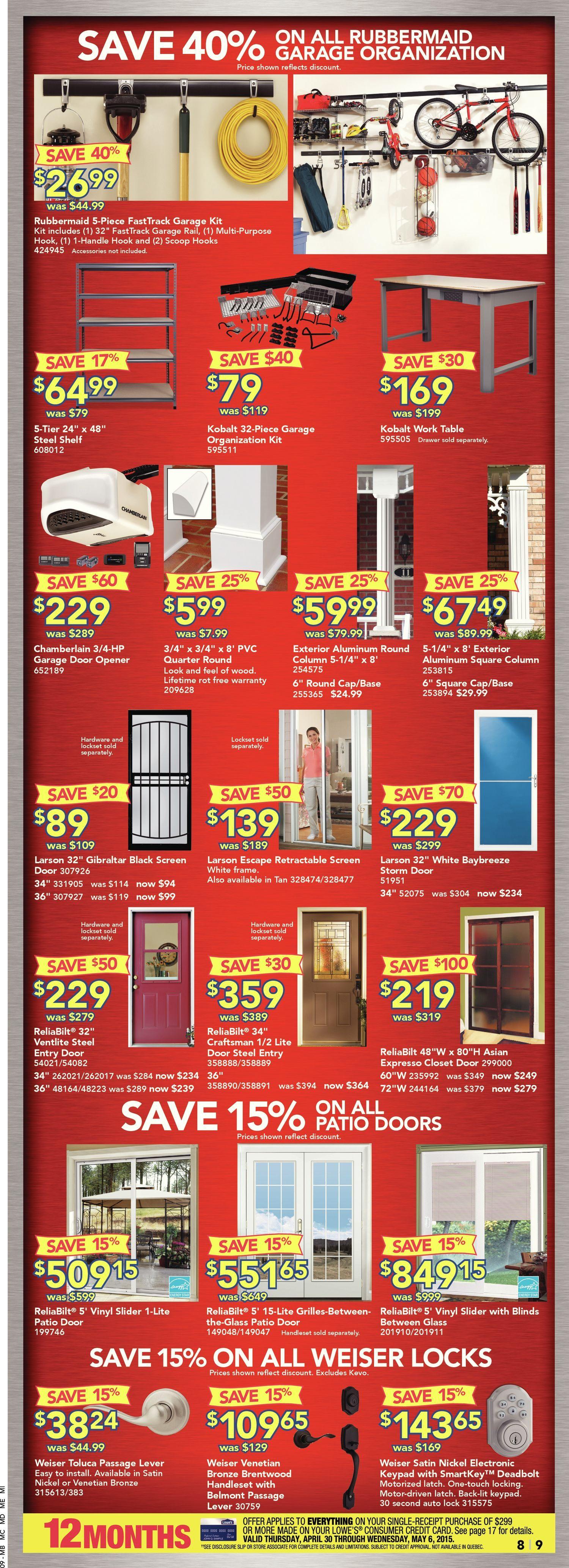 Lowe s Weekly Flyer Weekly Anniversary Sale Apr 30 – May 6