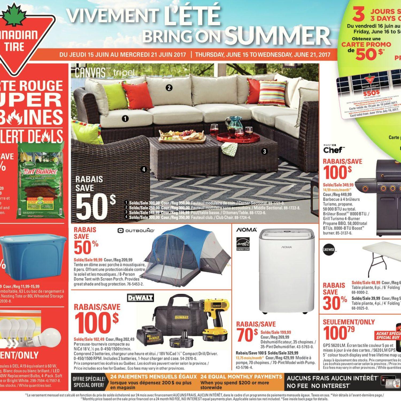 Canadian Tire Weekly Flyer Weekly Bring On Summer Jun 15  # Muebles Rouge Bubua