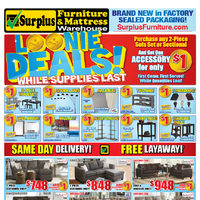 Surplus Furniture - Loonie Deals! Flyer
