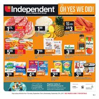 Your Independent Grocer - Weekly - The Oh Yes We Did! Event  Flyer