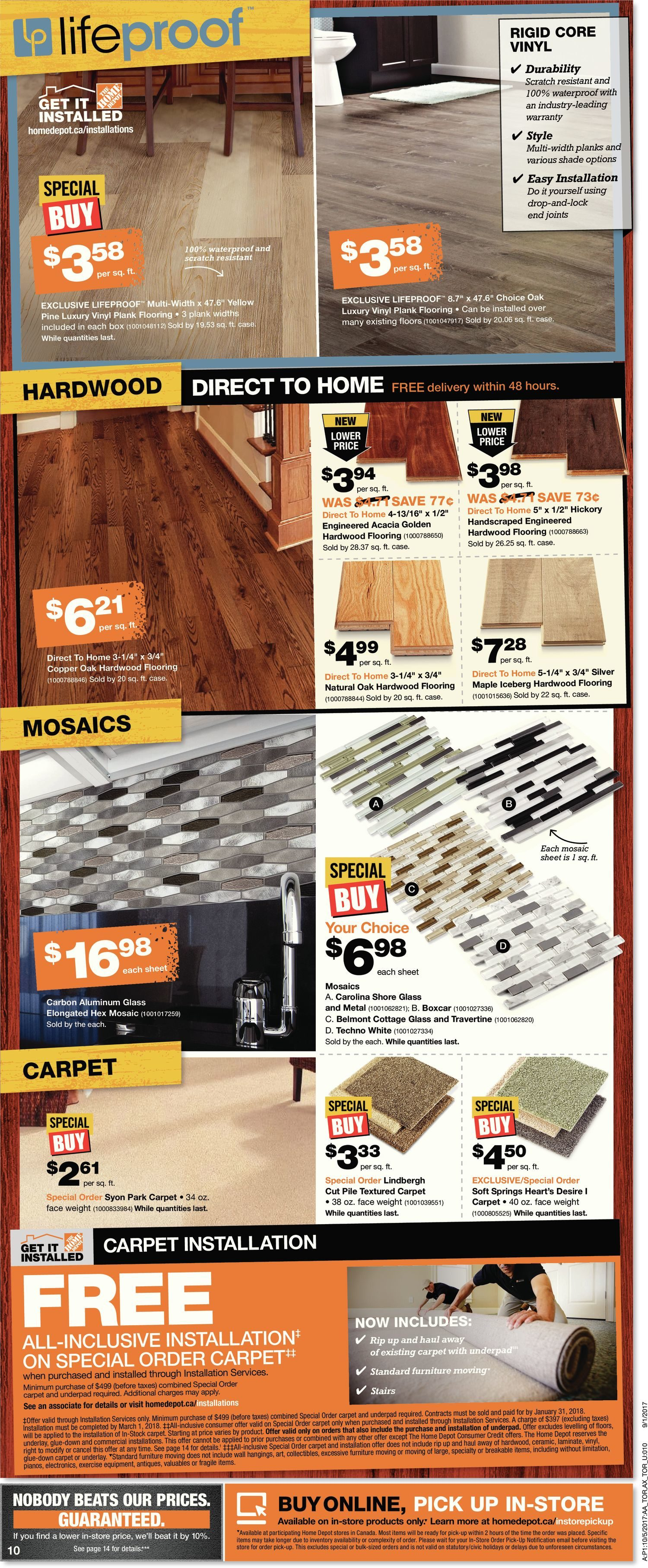 Home Depot Weekly Flyer Weekly Thanksgiving Event Oct 5 – 11