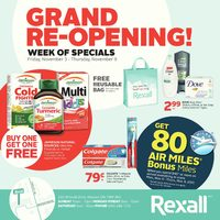 Rexall - Grand Re-Opening! - Week of Specials Flyer
