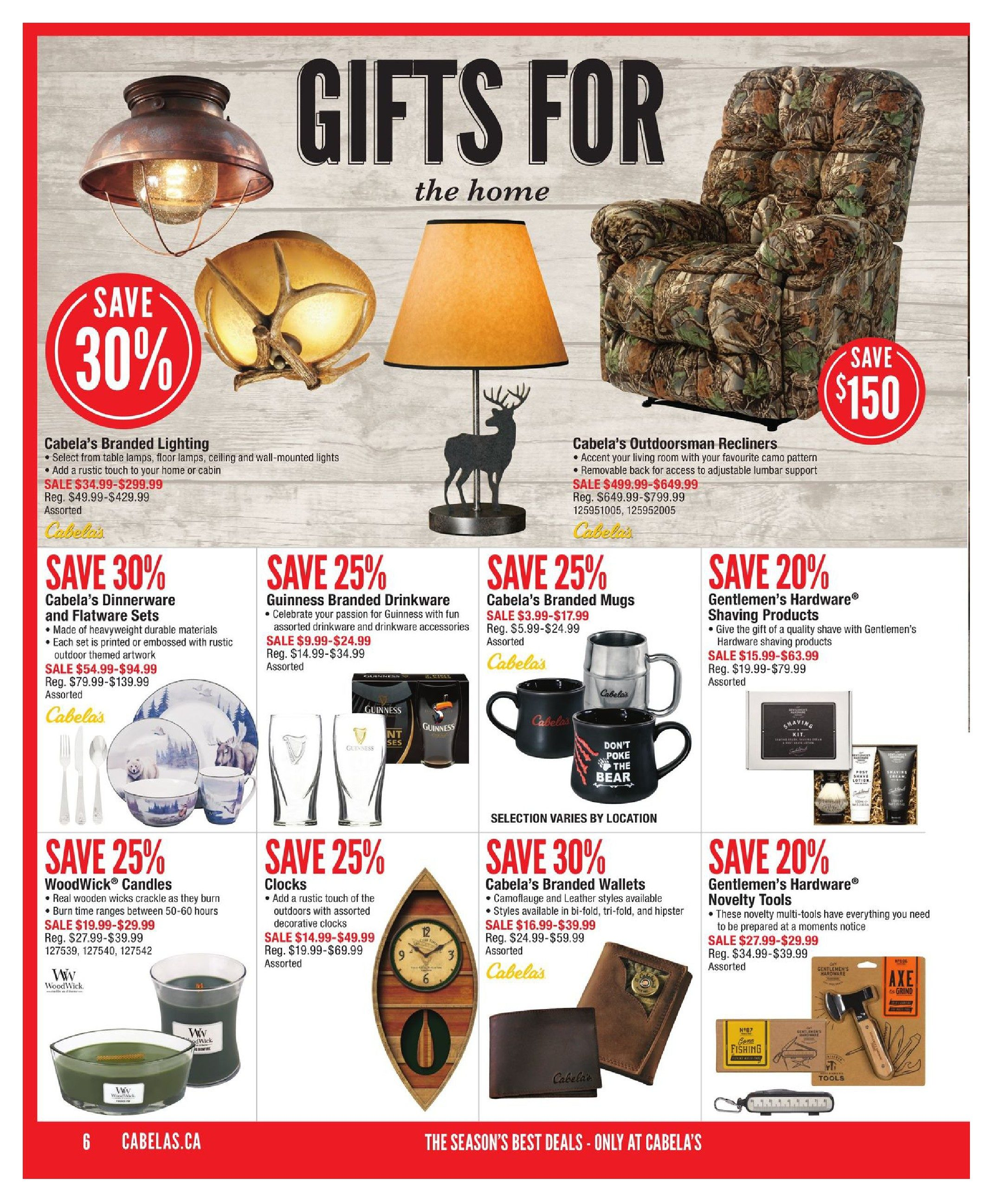 Cabelas Weekly Flyer Holiday Gift Guide Nov 2 29