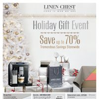 Linen Chest - Holiday Gift Event Flyer