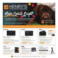 Henry's - Make Spirits Bright Flyer