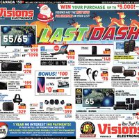 Visions Electronics - Weekly - Last Dash Flyer