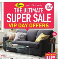 Leon's - Part of the Family - The Ultimate Super Sale Flyer
