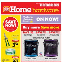 Home Hardware - Weekly - The Spring Clean-up Event Flyer