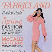 Fabricland - Member's Sale - Spring Fashion Flyer