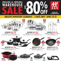 Zwilling J.A. Henckels - Warehouse Sale - Massive Inventory Clearance Flyer