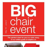 Staples - 2 Weeks of Savings - Big Chair Event Flyer
