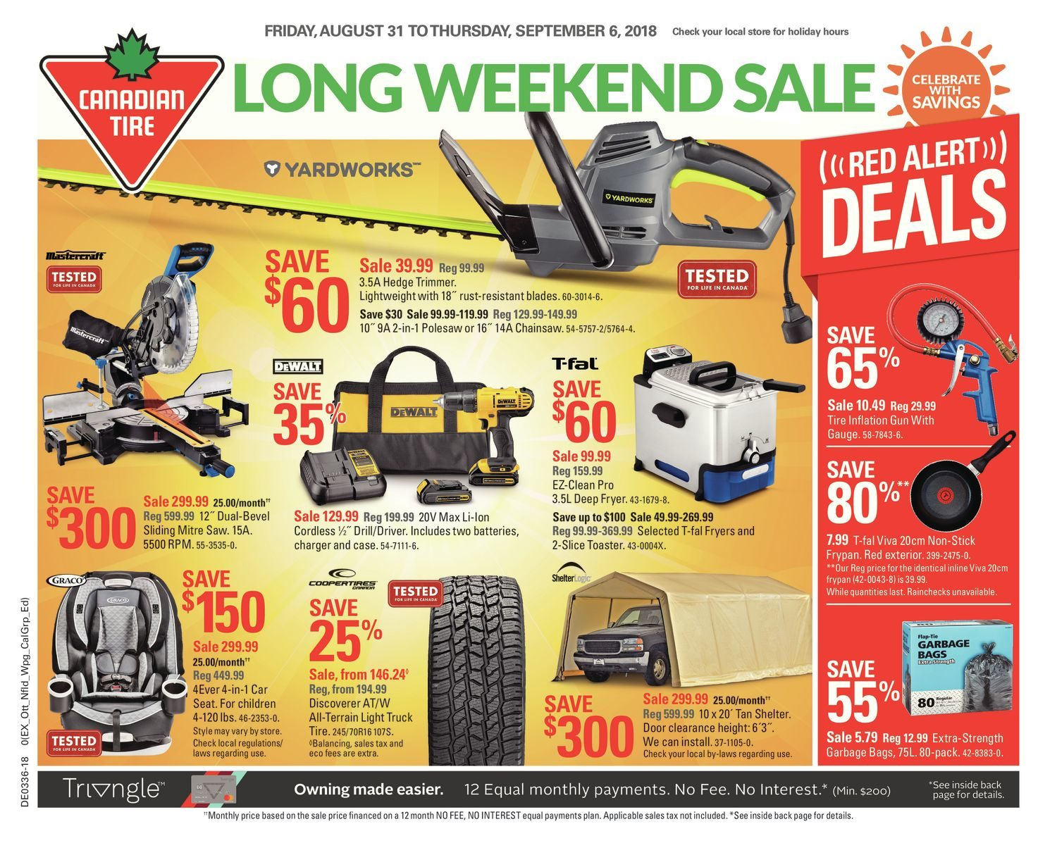 Canadian Tire Weekly Flyer Long Weekend Aug 31 Sep 6 Redflagdeals Com
