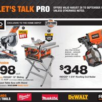 Home Depot - Let's Talk Pro Flyer