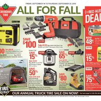 Canadian Tire - Weekly - All For Fall Flyer