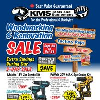 KMS Tools - Woodworking & Renovation Sale Flyer