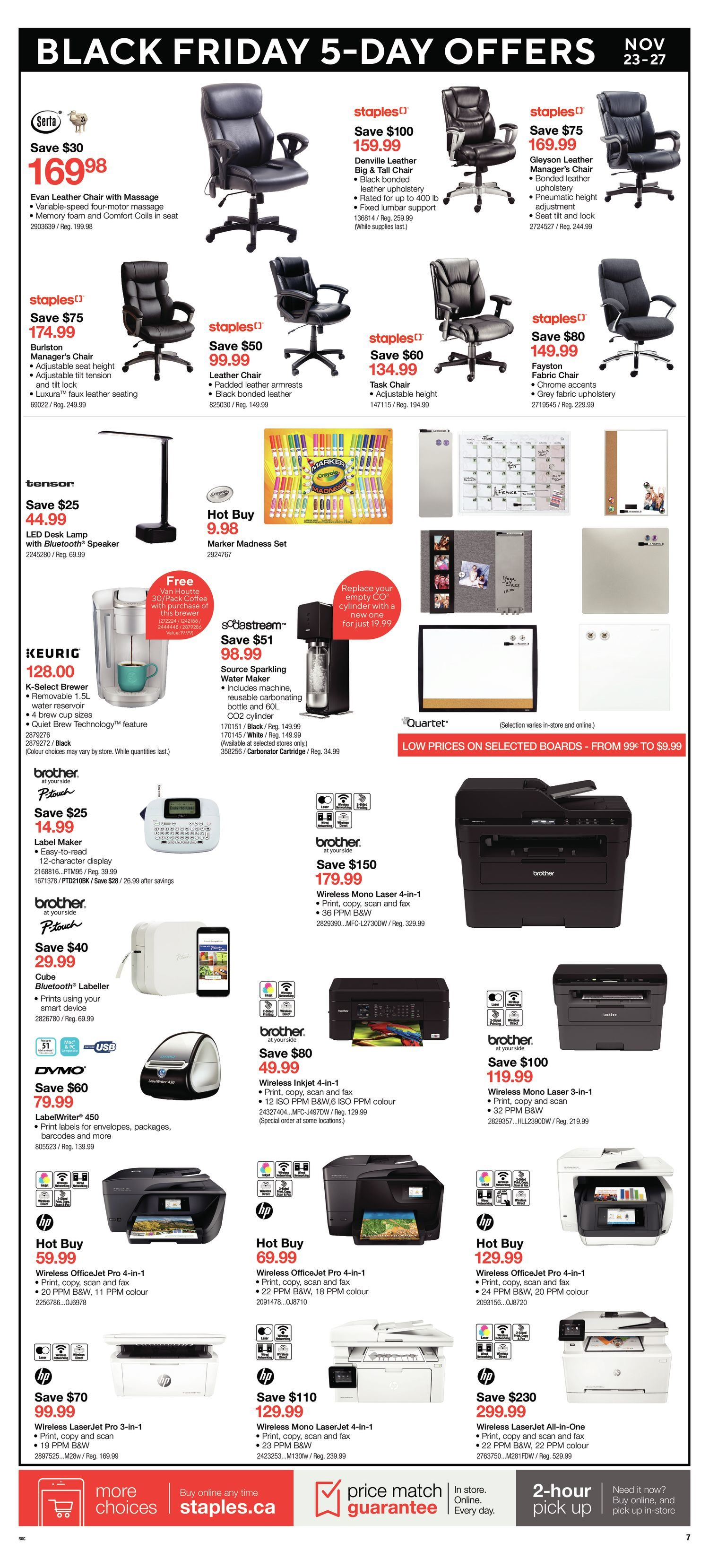 Staples Weekly Flyer - Black Friday Offers - Nov 23 – 27