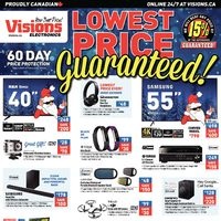Visions Electronics - Weekly - Lowest Price Guaranteed! Flyer
