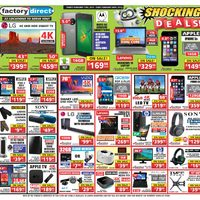 Factory Direct - Shocking Deals! Flyer