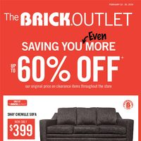 The Brick - Outlet - Saving You Even More Flyer