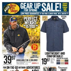 Bass Pro Shops - Gear Up For Spring Sale! Flyer