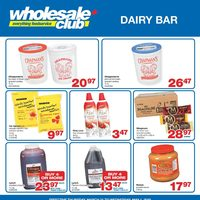 Wholesale Club - Dairy Bar Flyer