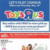 Toys R Us - Let's Play Canada Flyer