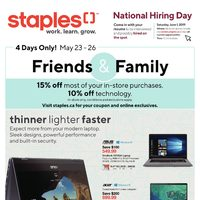 Staples - Weekly - Friends & Family Event Flyer