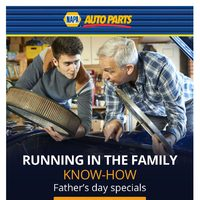 Napa Auto Parts - Running In The Family Know-How Flyer