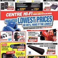 Centre HIFI - Guaranteed Lowest Prices Flyer