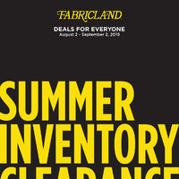 Fabricland - Summer Inventory Clearance Flyer