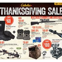 Cabelas - Thanksgiving Sale Flyer