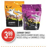 Carnaby Sweet Halloween Gummy Bears, Kisses Or Caramels