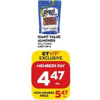Giant Value Almonds