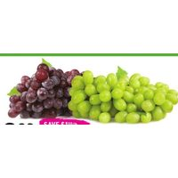 Fresh Organic Seedless Grapes, Red or Green