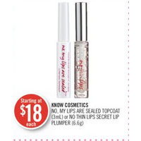 Know Cosmetics No, My Lips Are Sealed Topcoat Or No Thin Lips Secret Lip Plumper