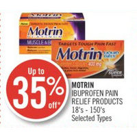 Motrin Ibuprofen Pain Relief Products