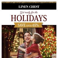 Linen Chest - Get Ready For The Holidays Flyer