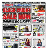2001 Audio Video - Weekly - Black Friday Sale Now Flyer