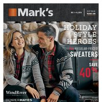 Mark's - 6 Days of Savings - Holiday Style Heroes Flyer