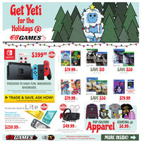EB Games - Get Yeti For The Holidays Flyer