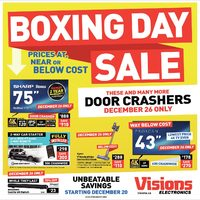 Visions Electronics - Boxing Day Sale Flyer