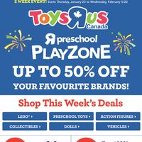 Toys R Us - 2 Week Event! - Preschool Playzone Flyer