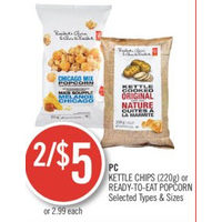 PC Kettle Chips Or Ready-To-Eat Popcorn