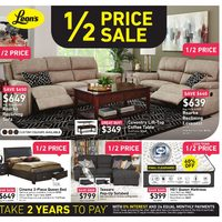 Leon's - 1/2 Price Sale Flyer