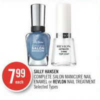 Sally Hansen Complete Salon Manicure Nail Enamel Or Revlon Nail Treatment