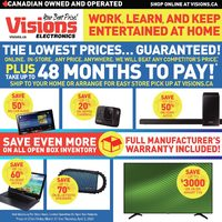 Visions Electronics - Weekly - Work, Learn And Keep Entertained At Home Flyer