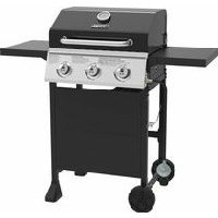 Backyard Grill 3-Burner Gas Grill with Folding Shelves