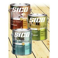 All Cans of Sico Exterior Stain or Paint