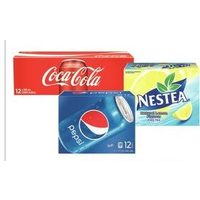 Coca-Cola or Pepsi or Nestea or Lipton Iced Tea, Minute Maid or Dole Juices or Drinks