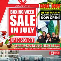 Bad Boy Furniture - Boxing Week Sale In July Flyer